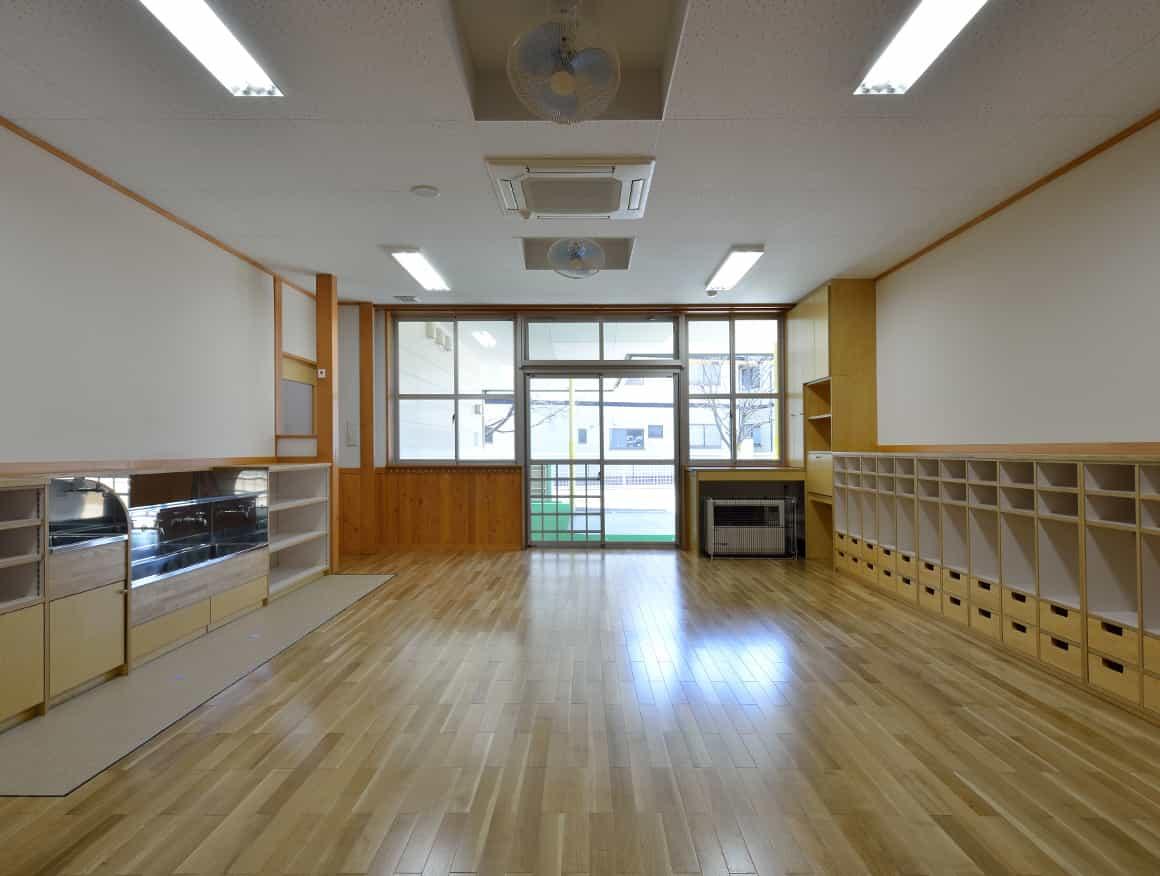 松本市堀米保育園保育室