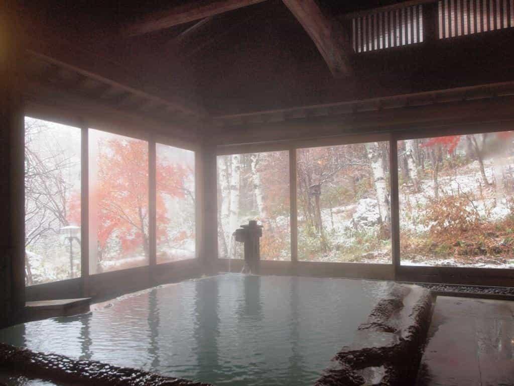 白骨温泉小梨の湯笹屋浴室